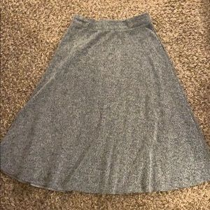 Gray herringbone ZARA Trafaluc Long Skirt Large